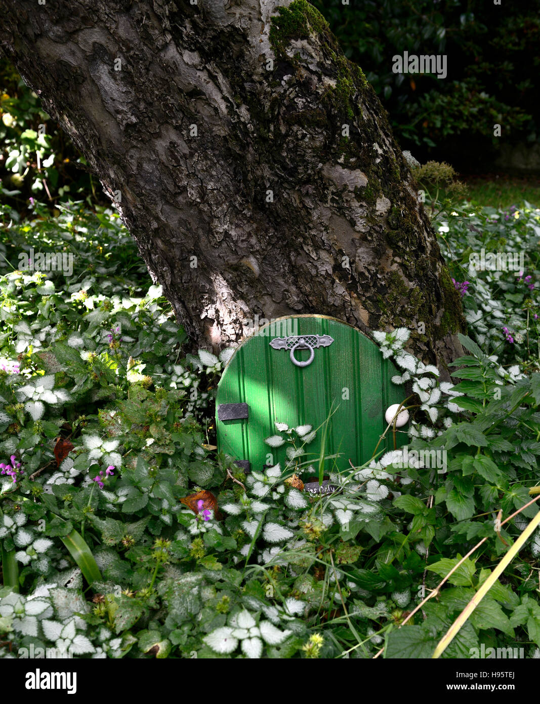Fee Tür Haus Baum Basis Garten Dekoration Dekorieren Miniatur Zwerg