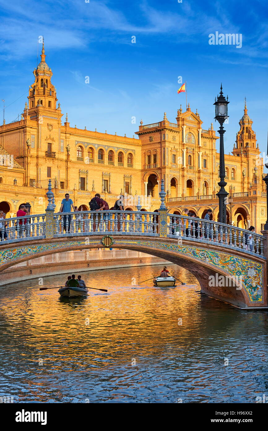 Plaza de Espana - Sevilla, Spanien Stockbild