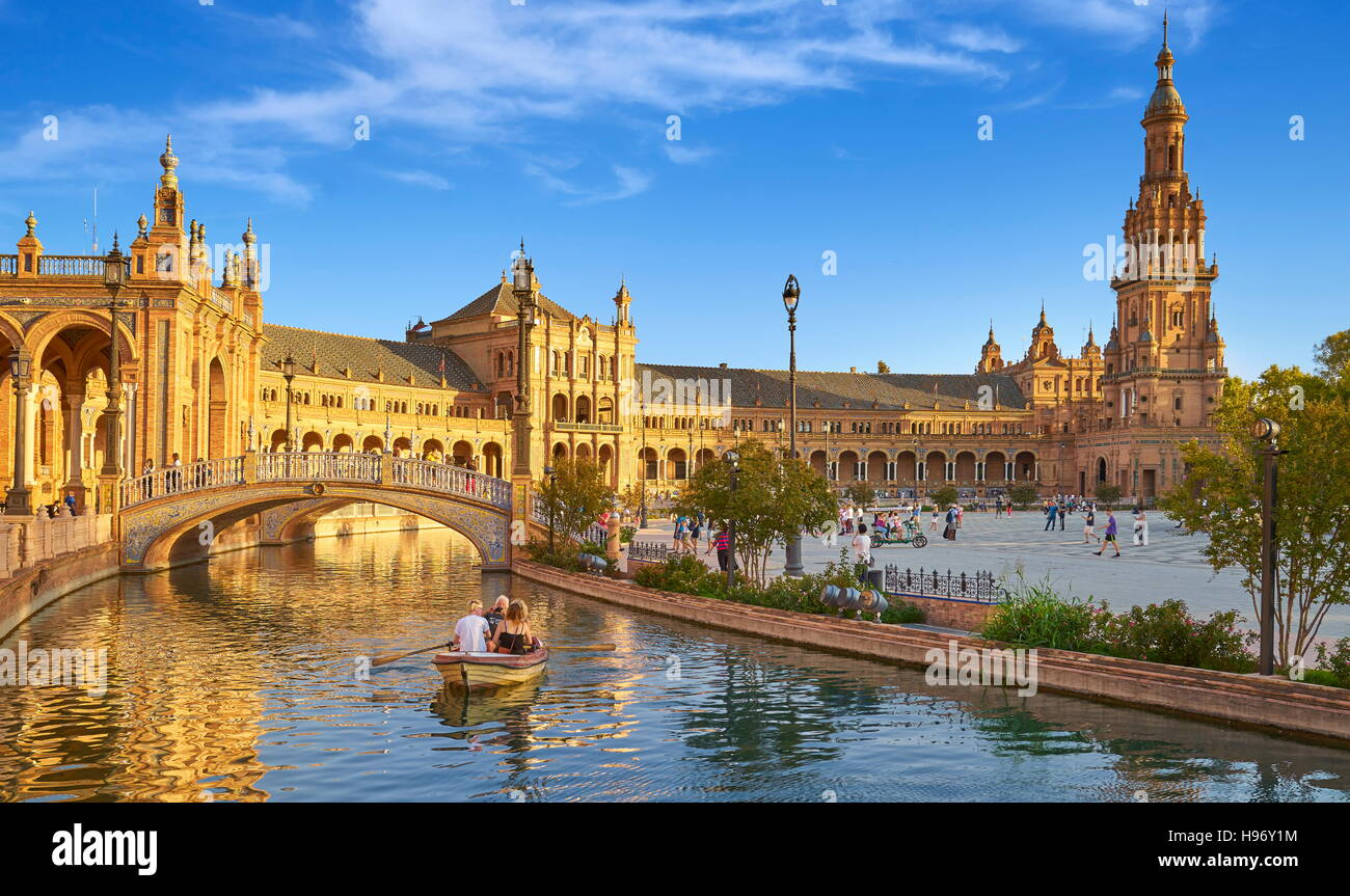 Plaza de Espana - Sevilla, Andalusien, Spanien Stockbild