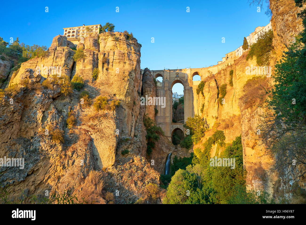 Ronda - Puente Nuevo Brücke, Andalusien, Spanien Stockbild