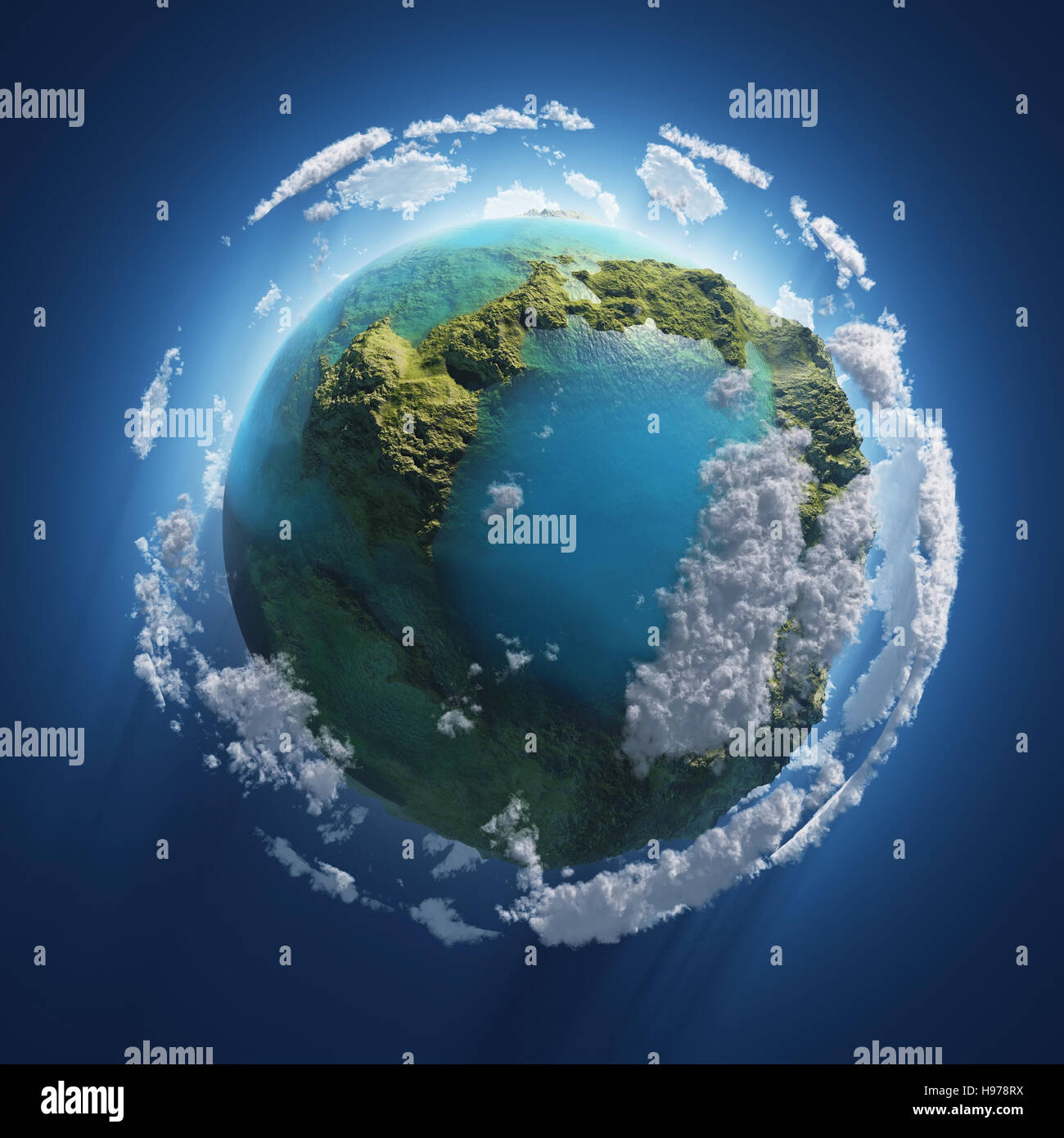 kleine Erde im Raum Stockbild
