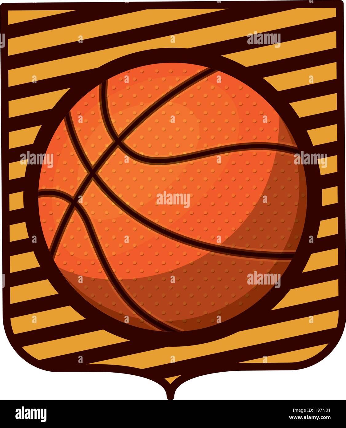 Basketball Tournament Emblem Ball Stockfotos & Basketball Tournament ...
