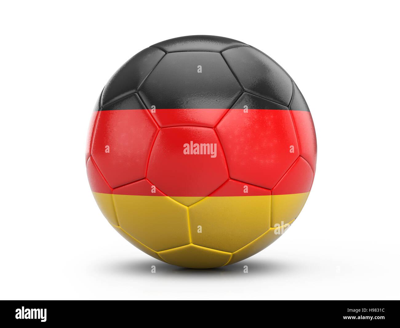 Fussball Deutschland Fahne Auf Einem Weissen Hintergrund 3d