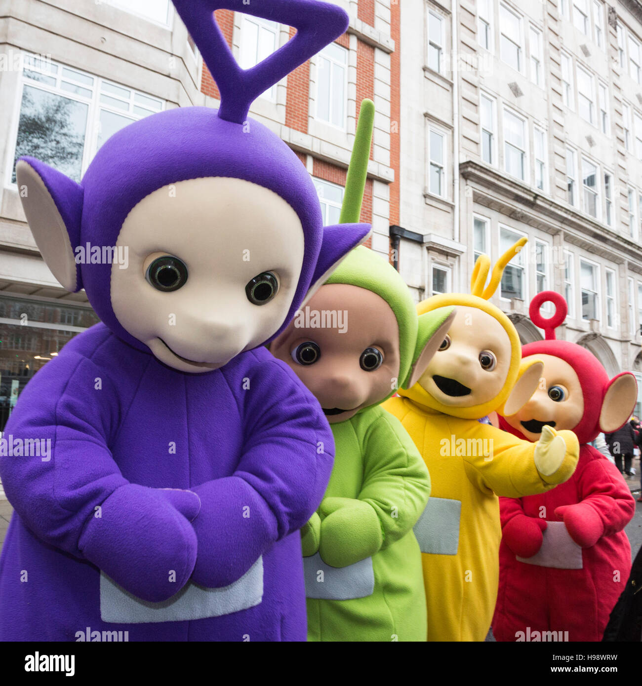 London Uk 20 November 2016 Teletubbies Auf Dem Weg Zur Parade