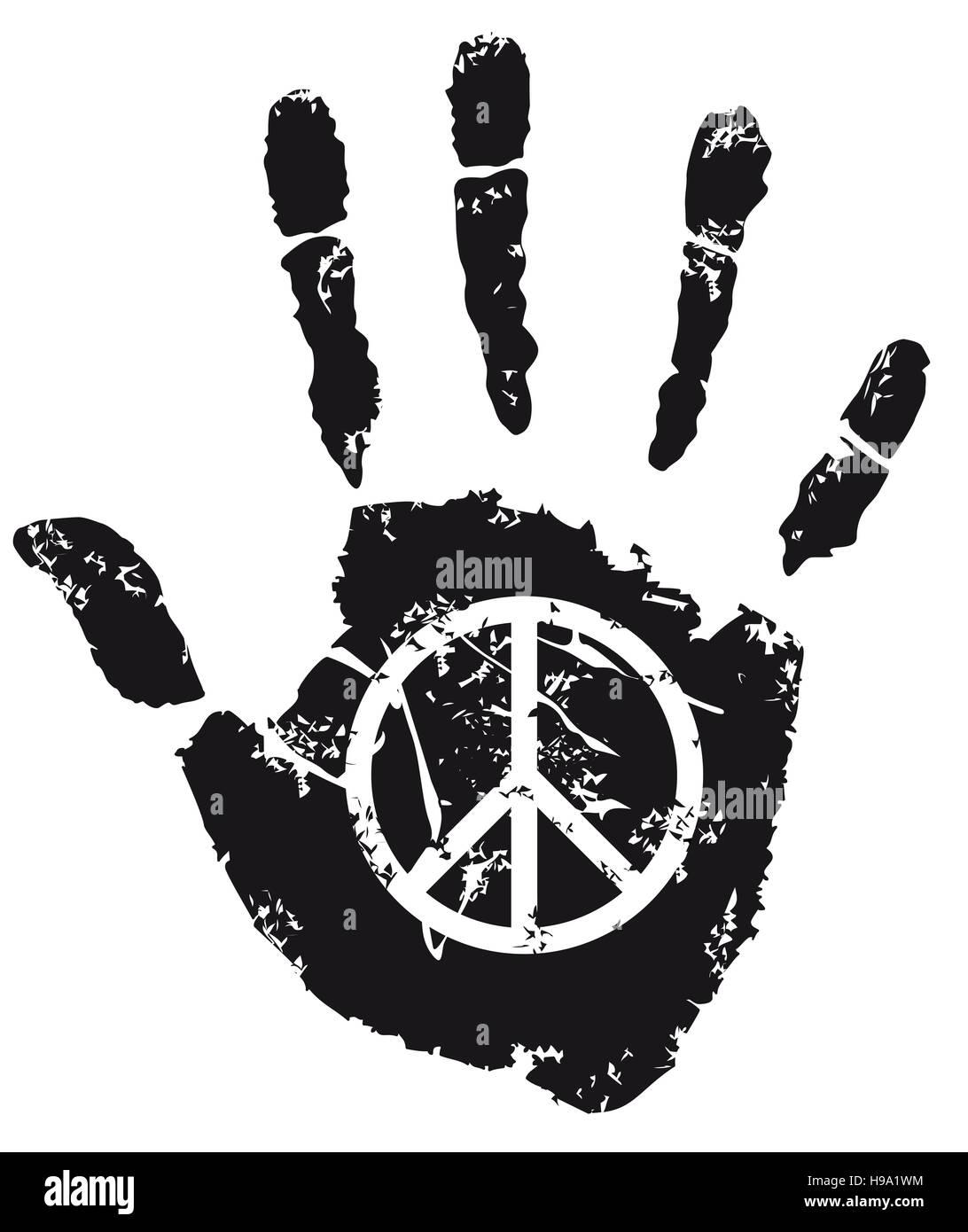 Peace-Zeichen Stockbild