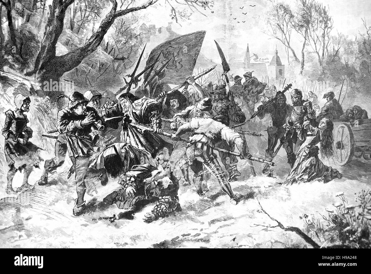 Blutige Ostern 1525, großen Bauernkrieg oder große Peasants' Revolt Deutsch: Deutscher Bauernkrieg, Stockbild