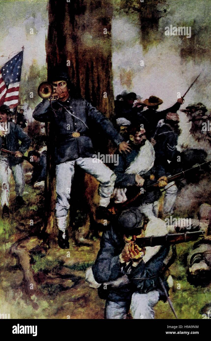 Rallyesport Anschluß Linie während des Bürgerkrieges USA Stockbild