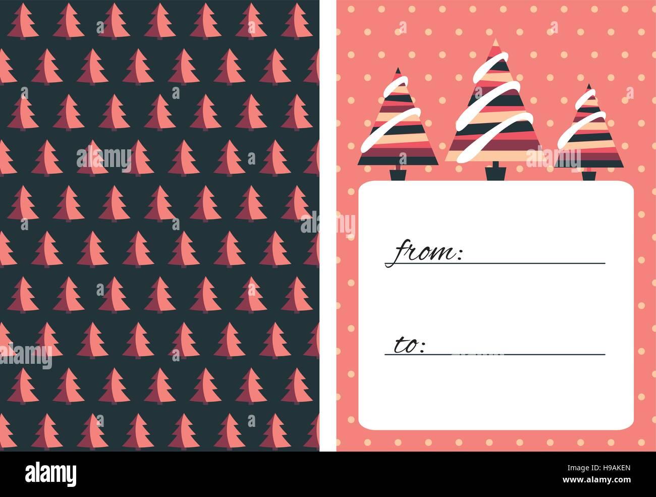 Sammlung von 2 Weihnachtskarte-Vorlagen. Weihnachten-Poster-Set ...