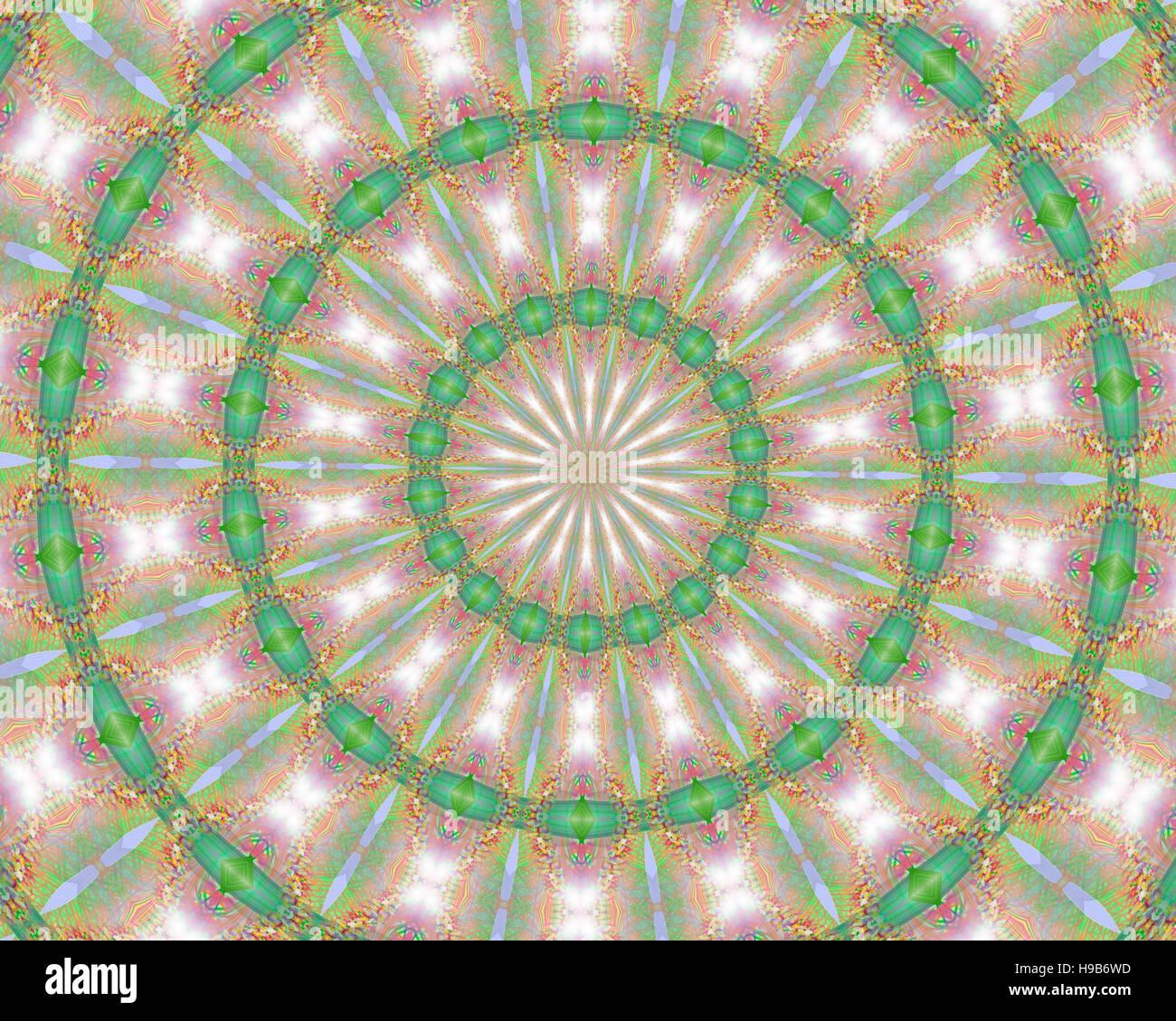 Mandala - digitale Kunst Stockbild