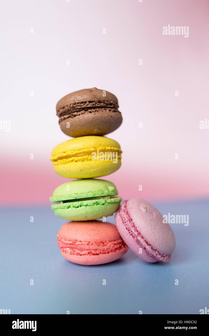 Bunte Macarons Stockbild