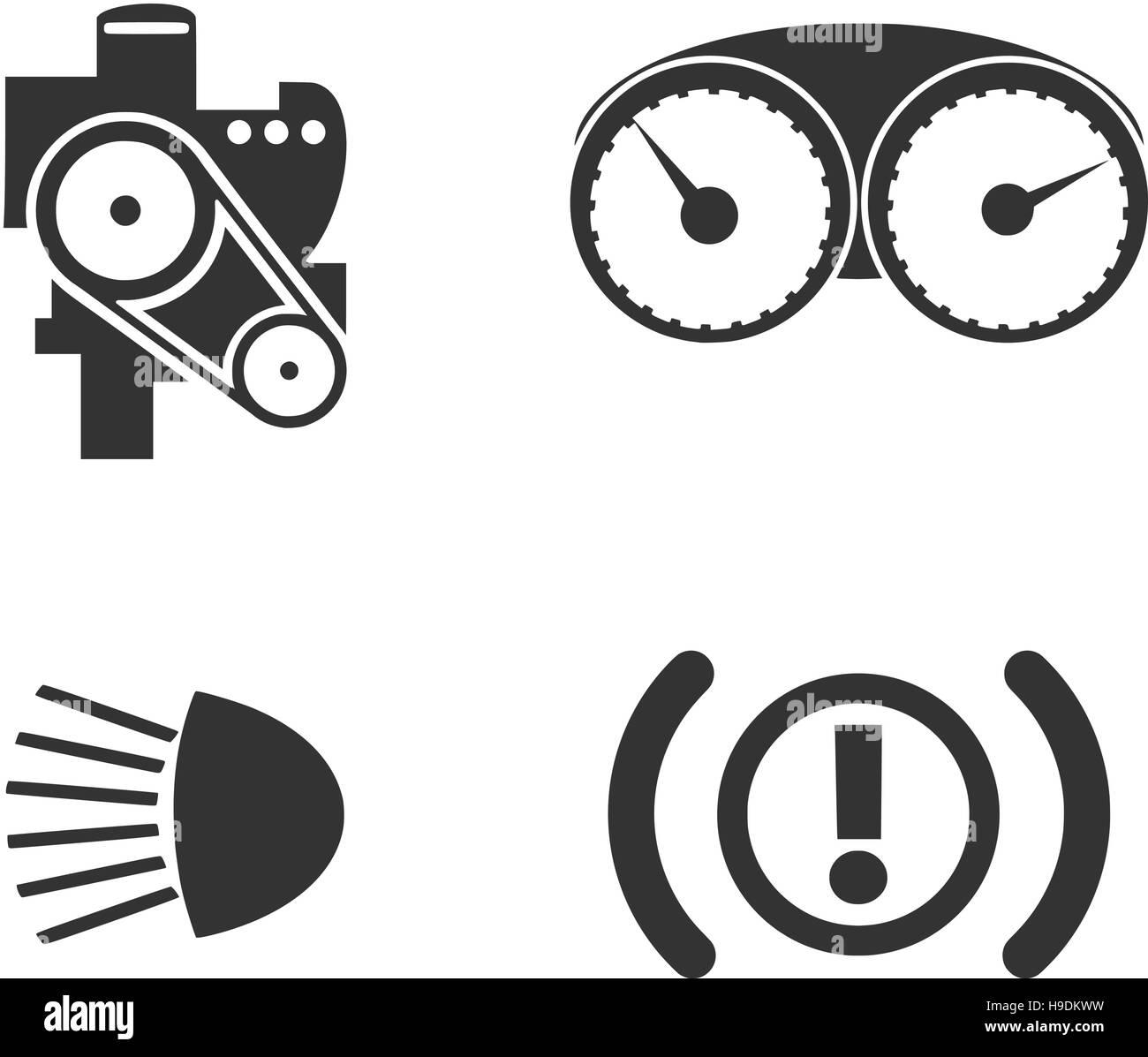 Auto-Rahmen-set Vektor Abbildung - Bild: 126305477 - Alamy