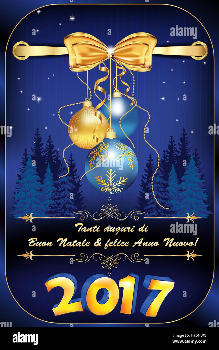 Tanti Auguri Di Buon Natale Felice Anno Nuovo Biglietto Dauguri