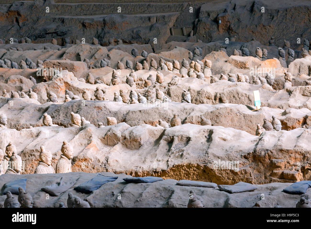 Museum der Qin Terrakotta-Krieger, Xian, China Stockbild