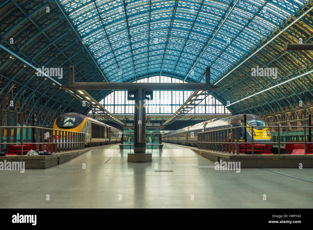 Eurostar High Speed Hs1 London Paris Europa Bahnreisen Stockfoto