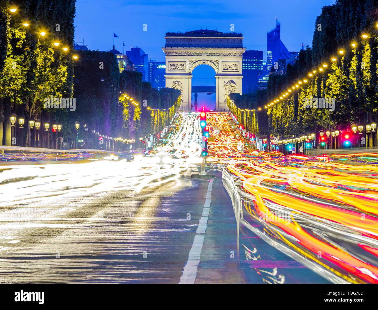 Champs-Élysées in Paris, Frankreich Stockbild