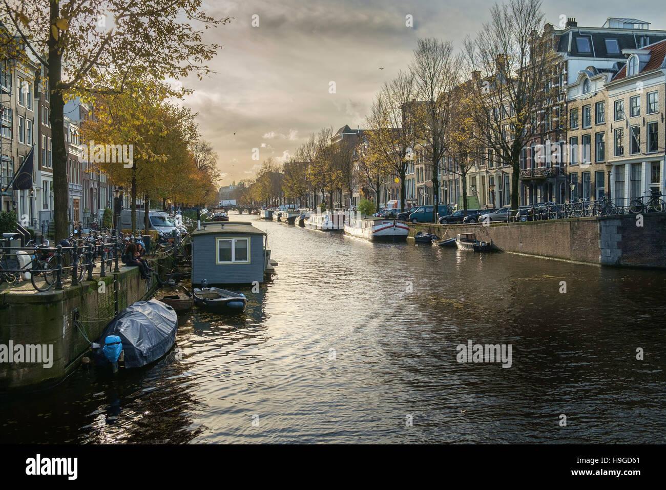 Licht Tour Amsterdam : Herbst licht auf die herengracht amsterdam niederlande stockfoto