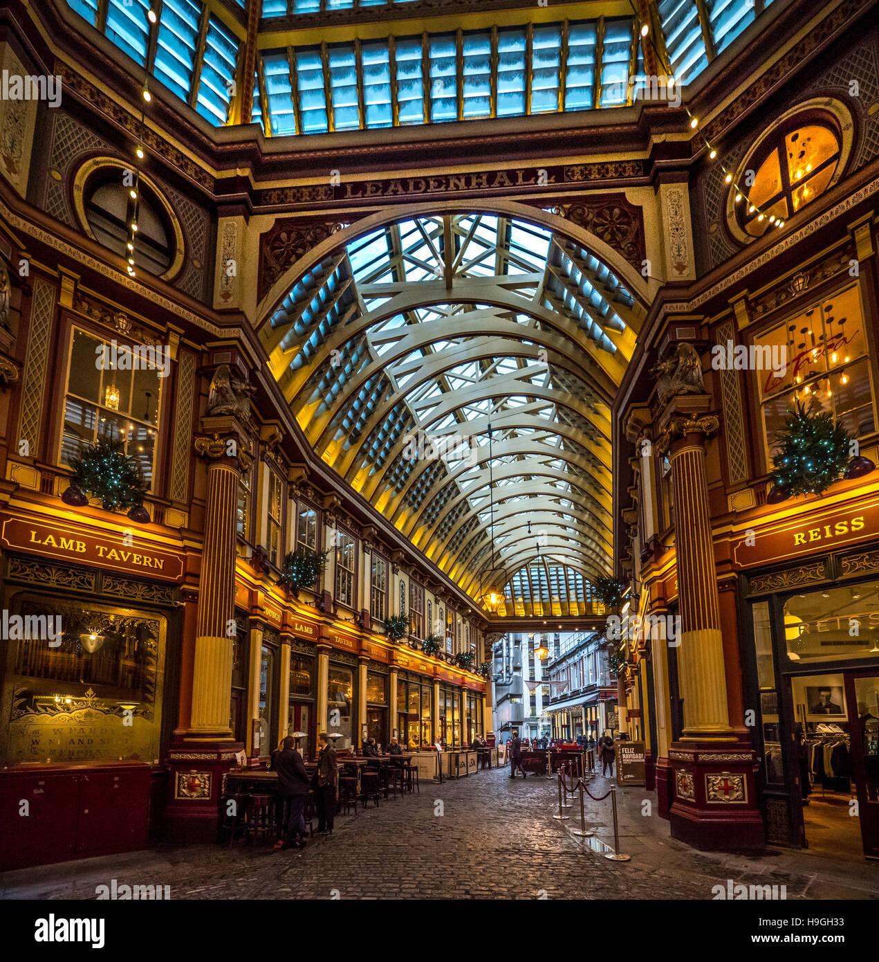 Leadenhall Market, London, UK. Stockbild