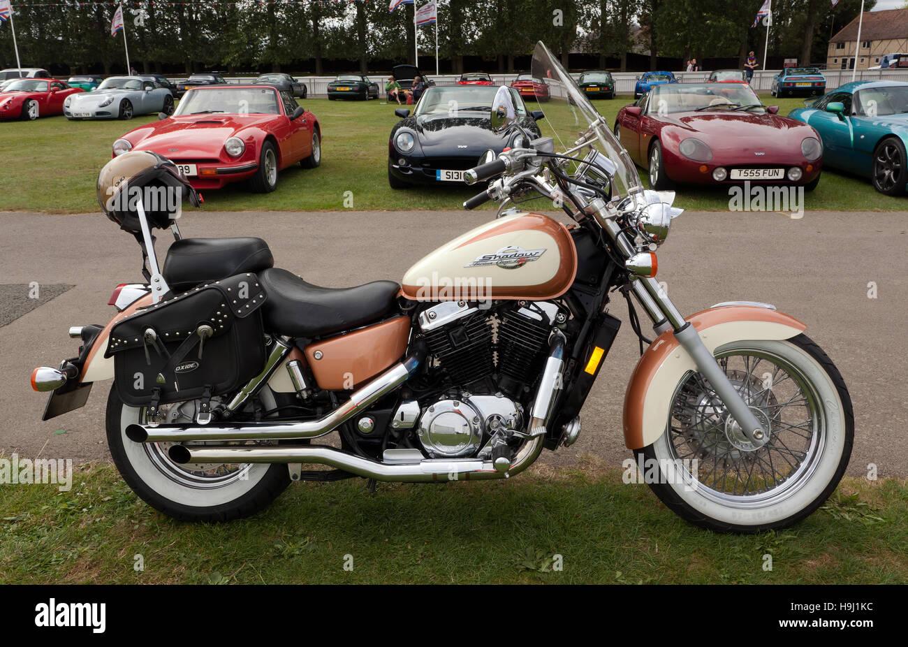 Bild Von Einem Honda Shadow Motorrad American Classic Edition In Der Bereiche Silverstone Car Club