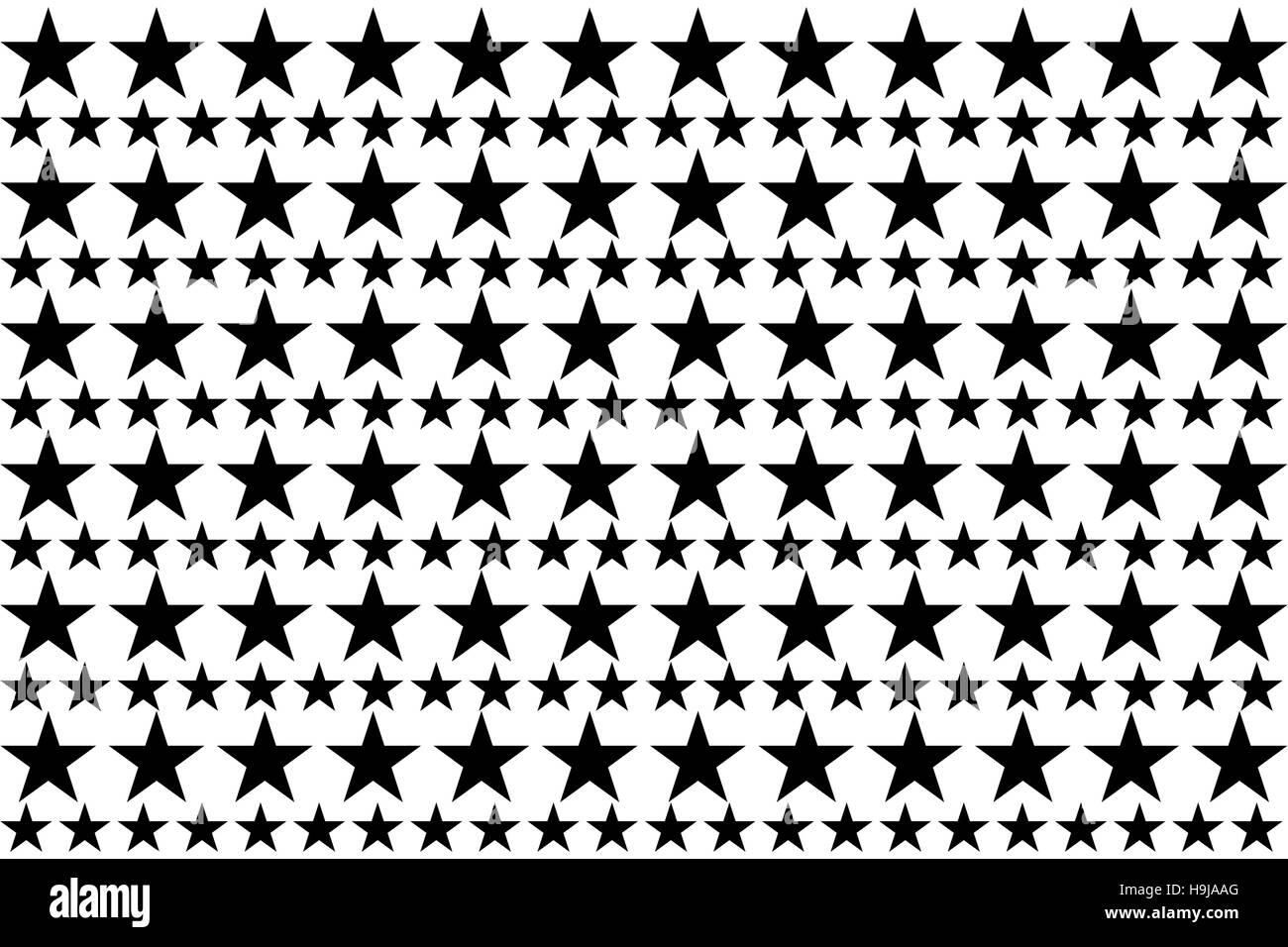 Digital erzeugte Sterne Stockbild