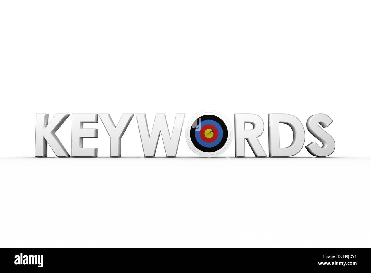 Anschauliches Bild der Wort-Schlüsselwörter Stockbild