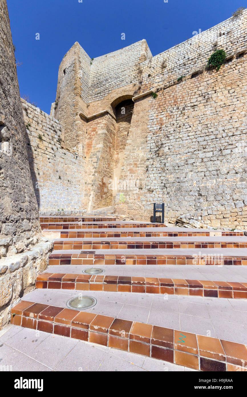 Spanien, Balearen, Ibiza, Eivissa, Altstadt Dalt Vila, Portal Nou Stockbild