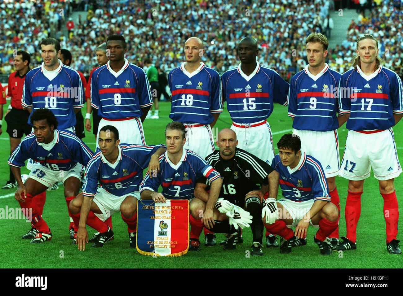Mannschaftsaufstellung Frankreich