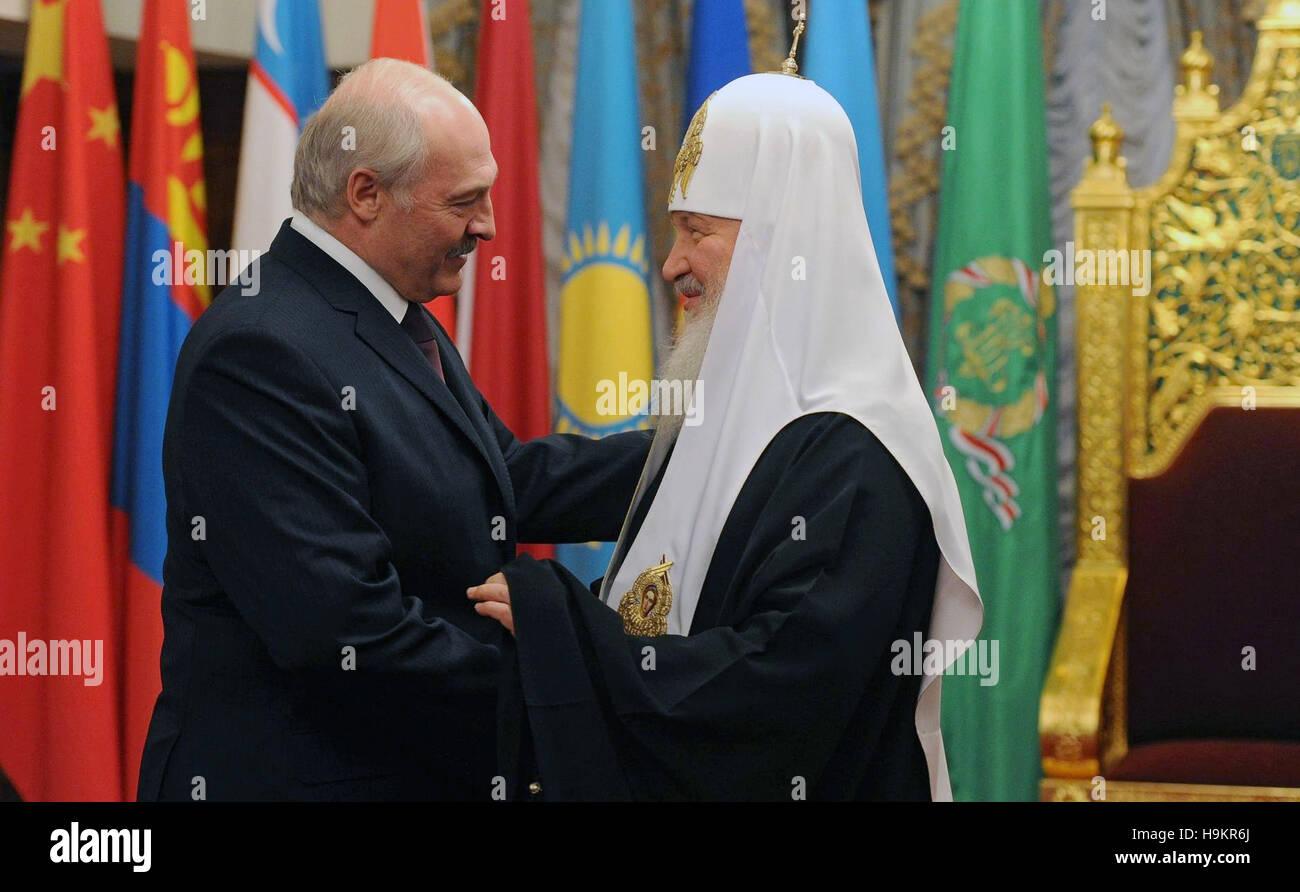 Belarus Prasident Alexander Lukashenko Wunscht Alles Gute Zum
