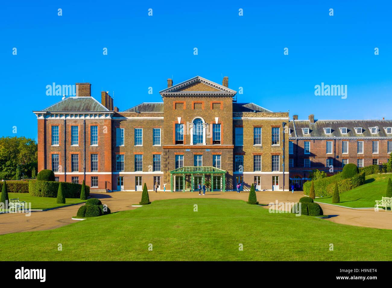 Kensington Palace in London, Großbritannien Stockbild