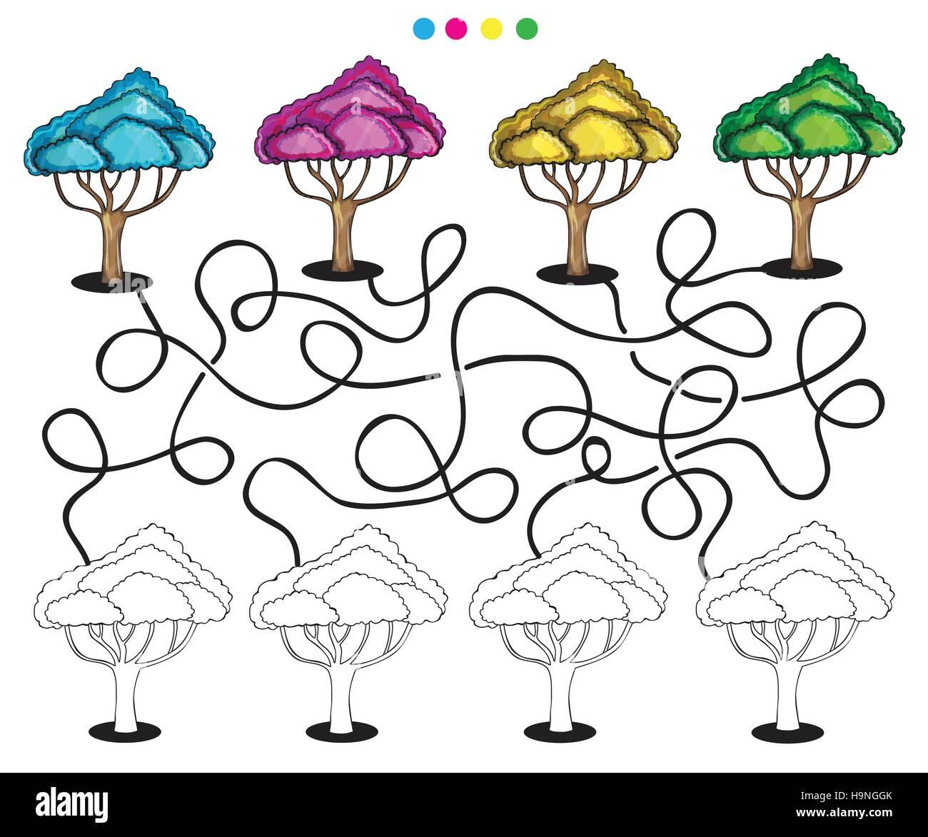 Brain Tree Illustration Tree Knowledge Stockfotos & Brain Tree ...
