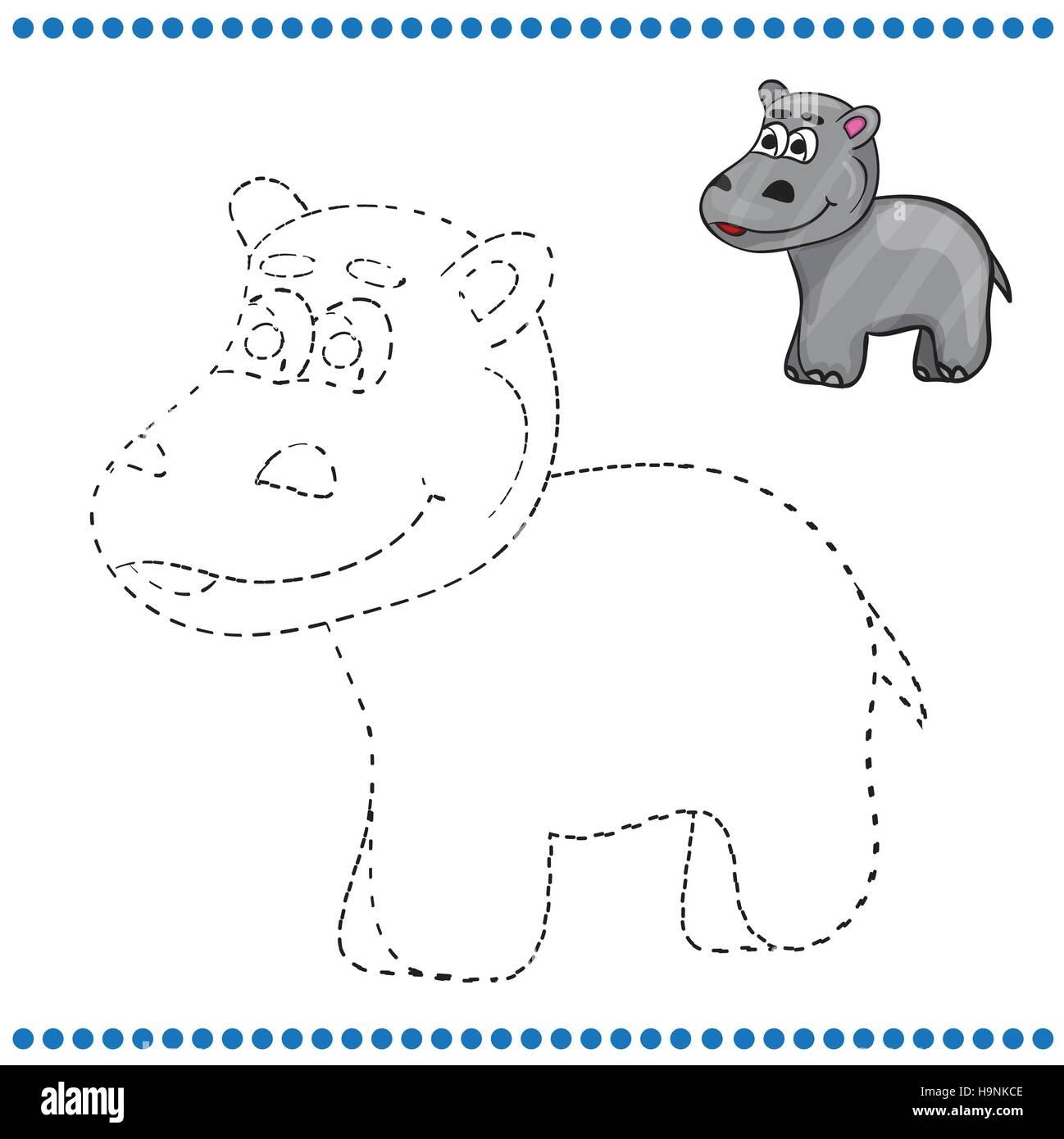 Atemberaubend Nilpferd Malvorlagen Für Kinder Fotos - Druckbare ...
