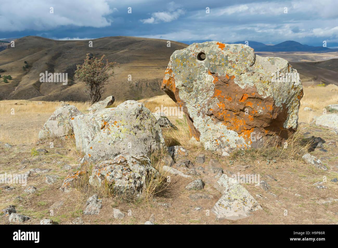 Prähistorischen Ausgrabungsstätte Karer von Zorats, Sissian, Provinz von Syunik, Armenien, Kaukasus, Naher Osten, Asien Stockfoto