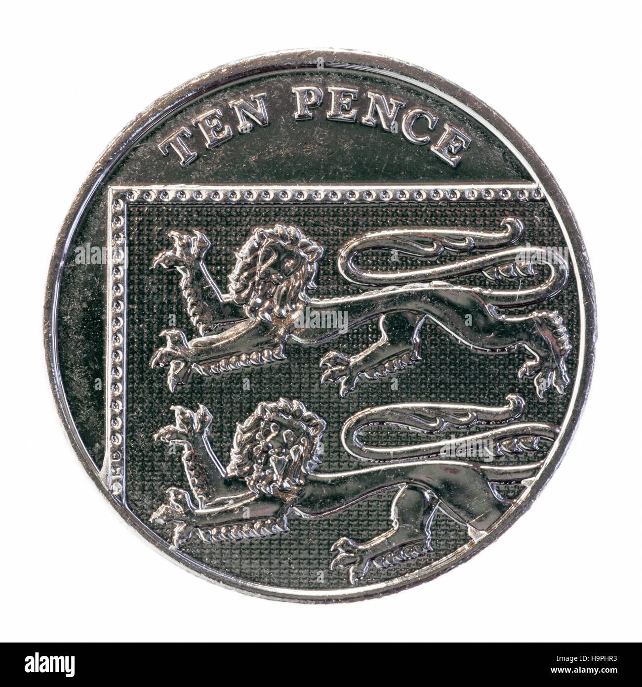 2008 Neues Design Für Die Britische Münzen 10 Pence Stück Stockfoto