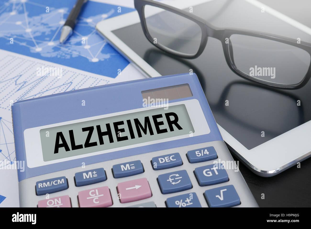 ALZHEIMER Stockfoto