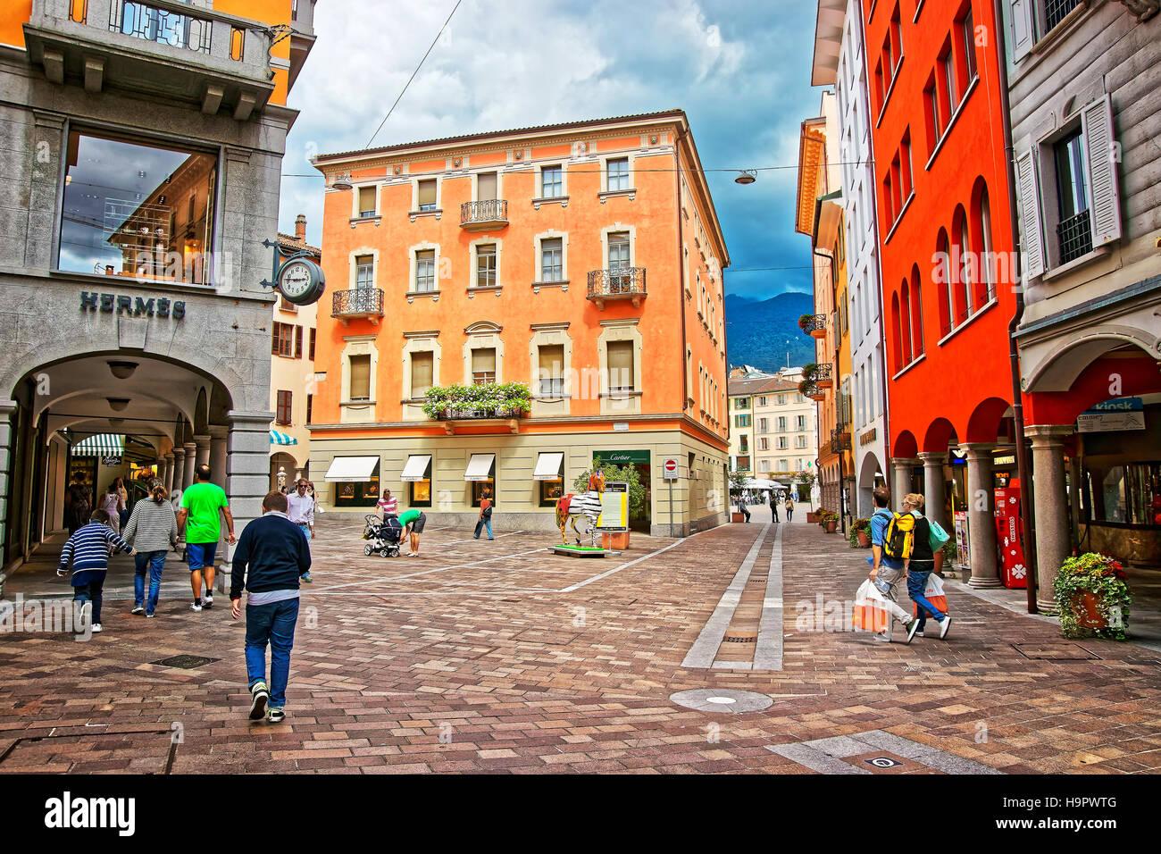 Lugano Switzerland Cafe Stockfotos & Lugano Switzerland Cafe Bilder ...