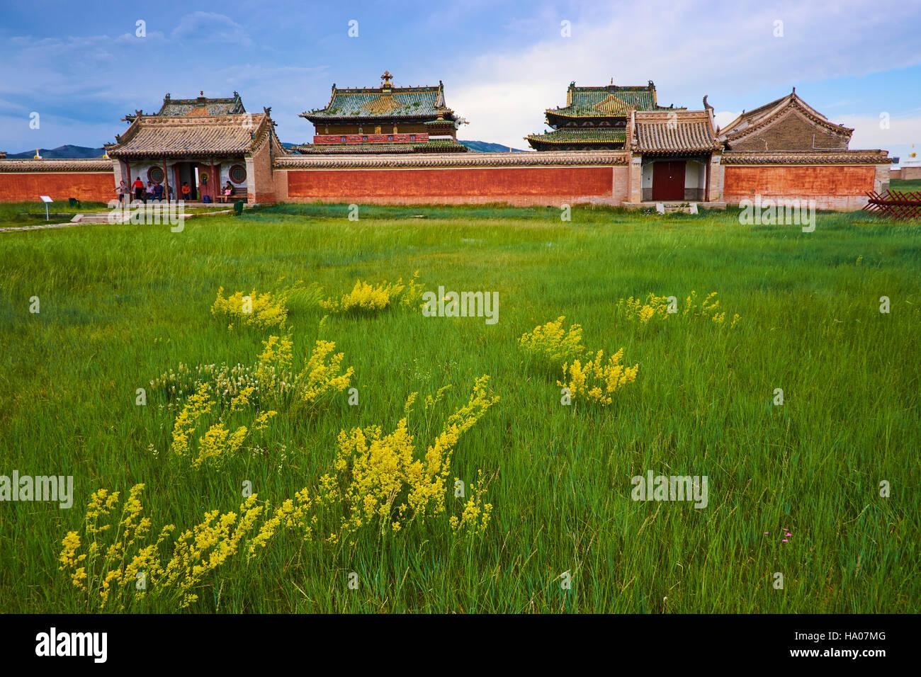 Mongolei, Ovorkhangai, Kharkhorin, Erdene Zuu Klosters, Orkhon Tal, UNESCO-Welterbe Stockbild