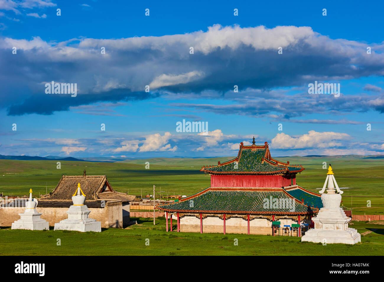 Mongolei, Ovorkhangai, Shankh Kloster, gegründet im Jahre 1647 von Zanabazar Stockbild