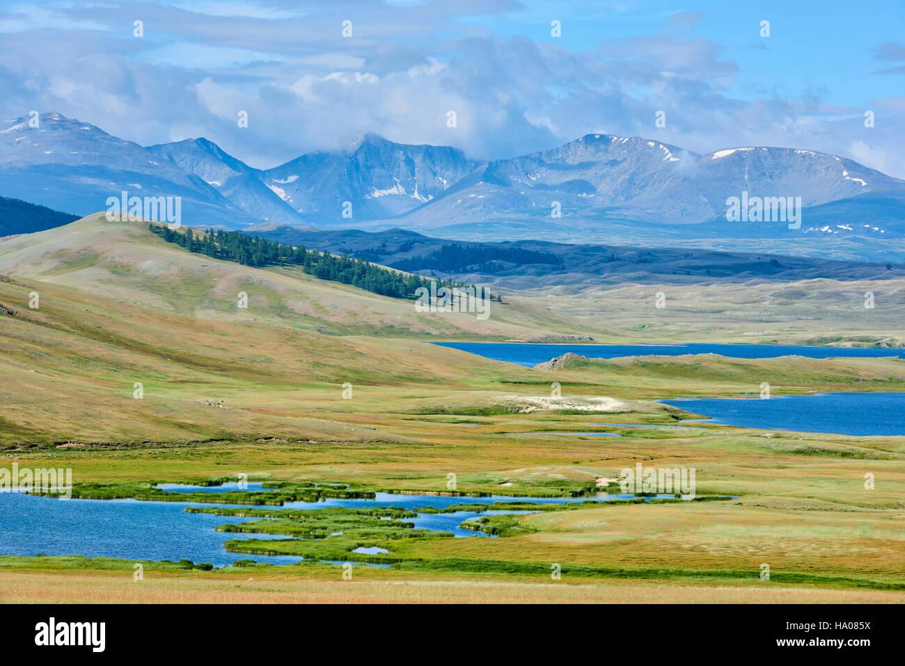 Mongolei, Bayan-Ulgii Provinz, westlichen Mongolei, National Parc des Tavan Bogd, die 5 höchsten Gipfel des Stockbild