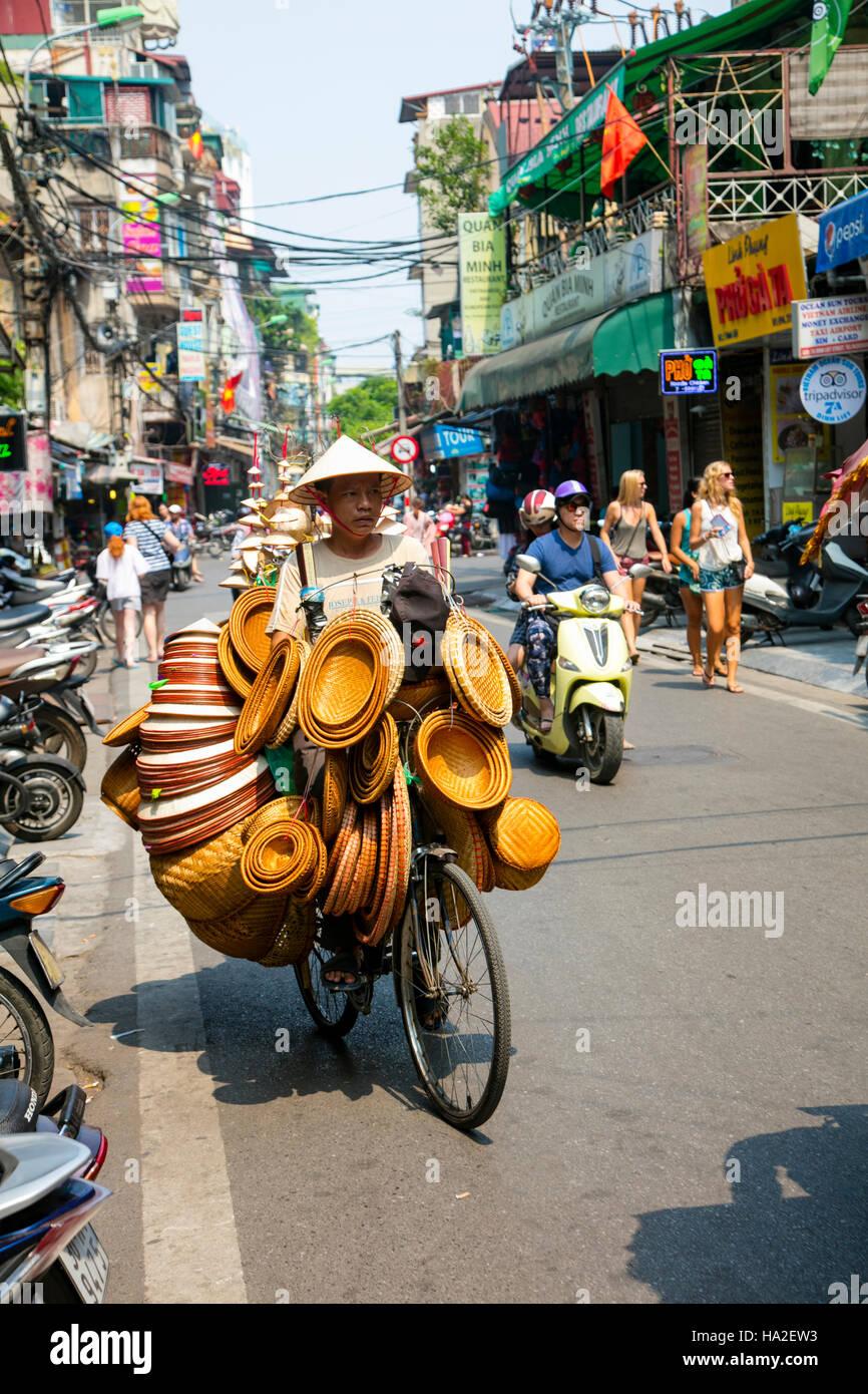 Alte Viertel, Hanoi, Vietnam, Asien Stockbild