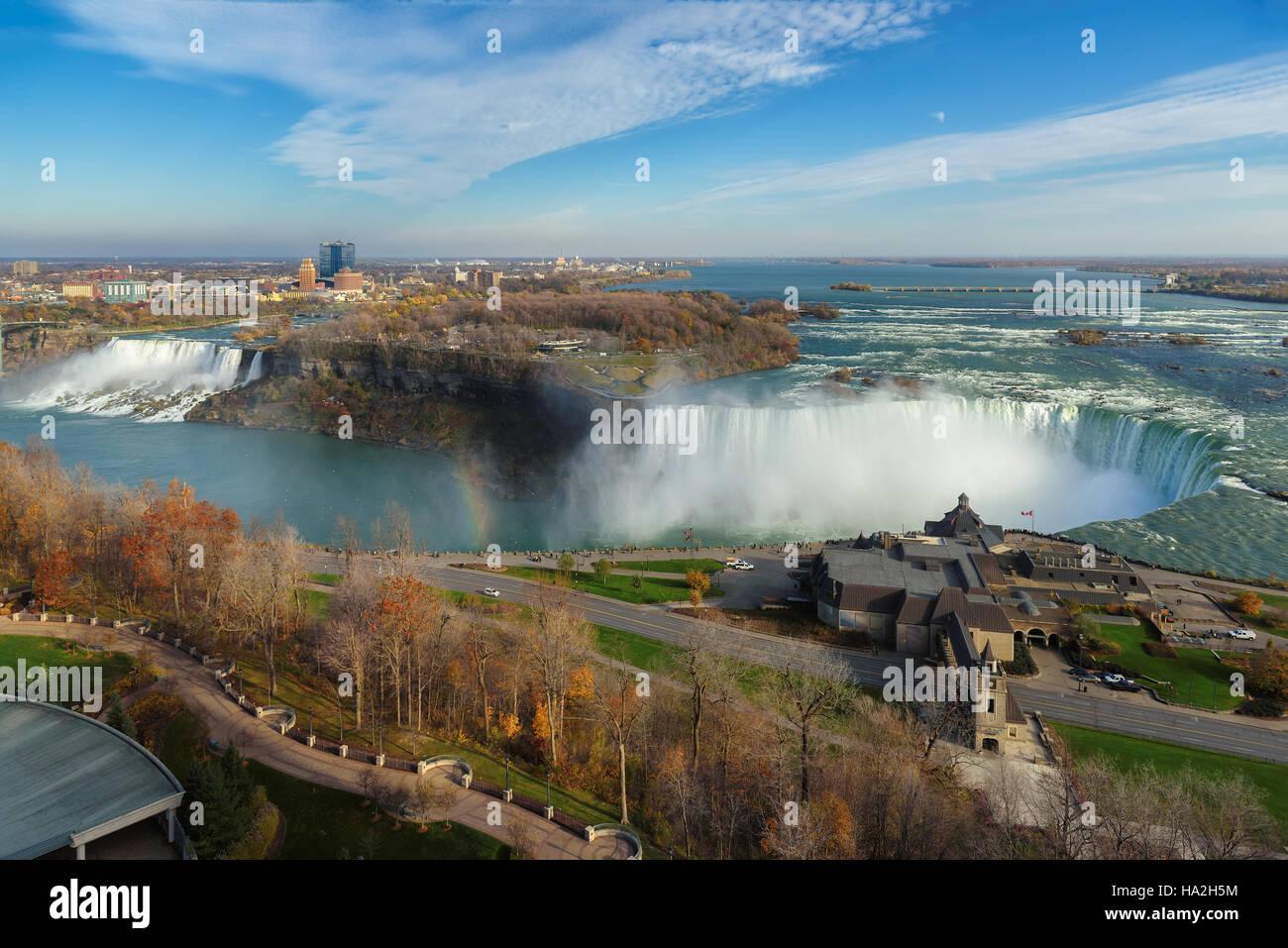 Niagarafälle-Luftbild Stockbild