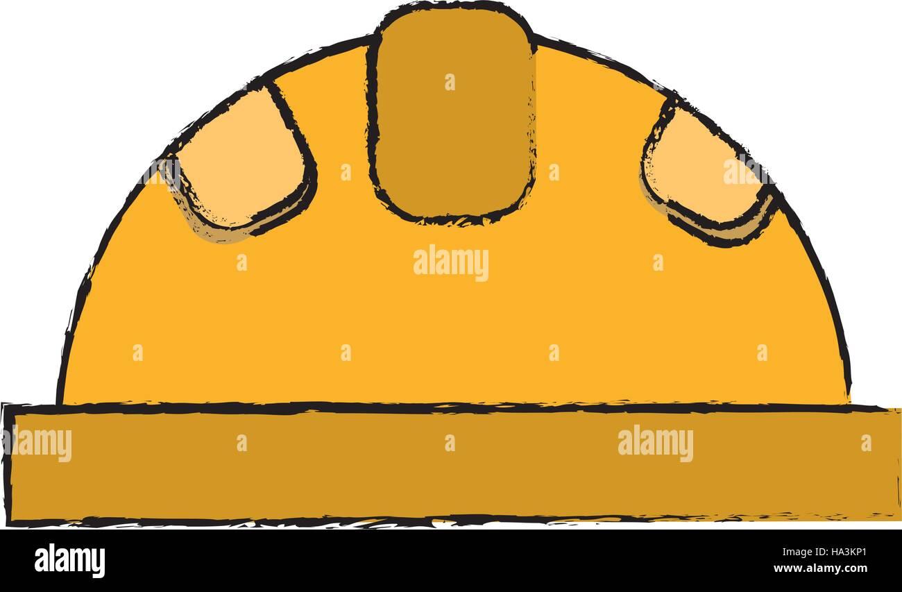 Helm Schutzenden Aufbau Sicherheit Zeichnen Vektor Abbildung Bild