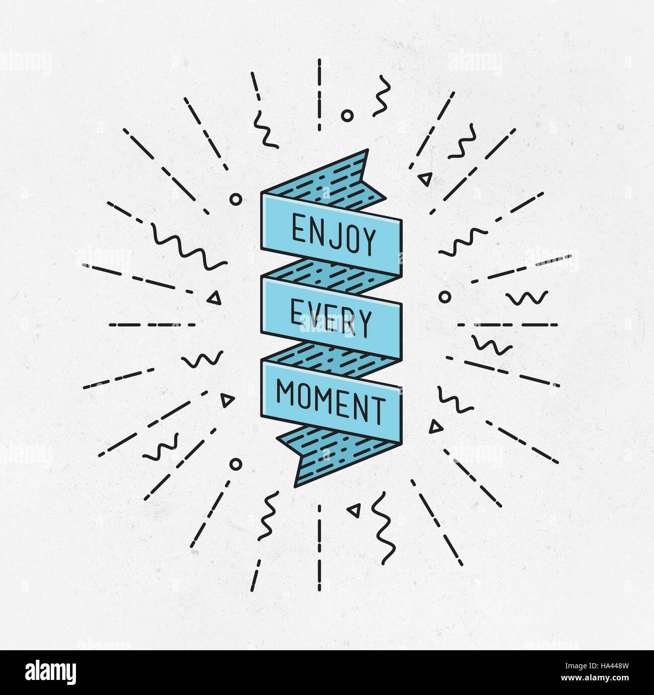 Geniessen Sie Jeden Augenblick Inspirational Abbildung Motivierende