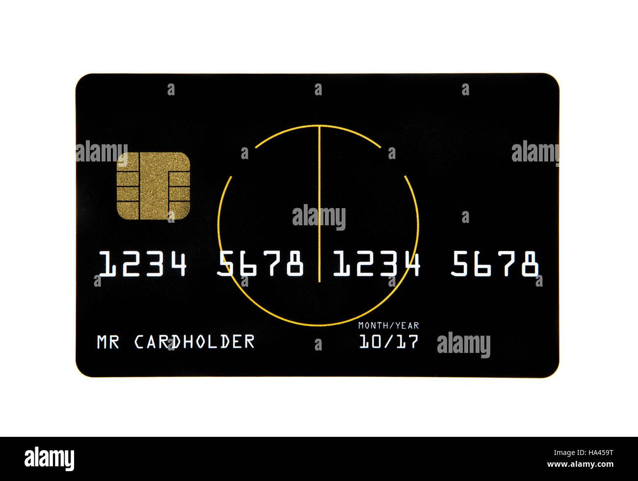 Kreditkarte mit einem smart Chip auf weißem Hintergrund Stockbild