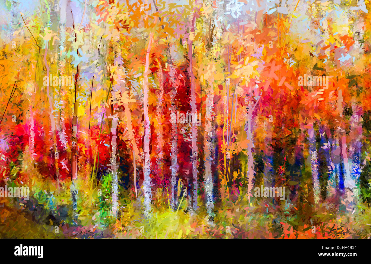 D Pine Forest Painting On Wood Canvas