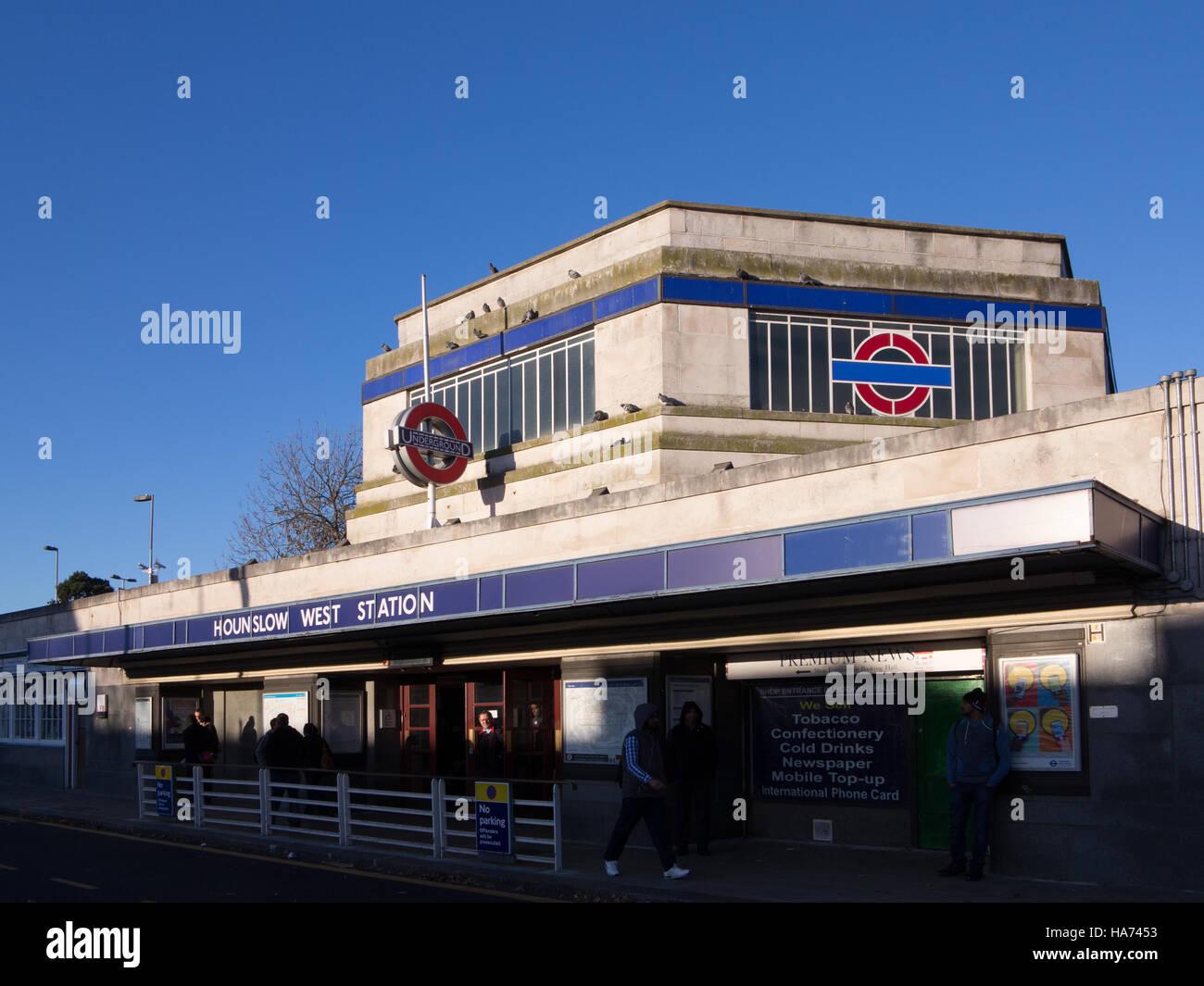 Die U-Bahnstation Hounslow West Stockbild
