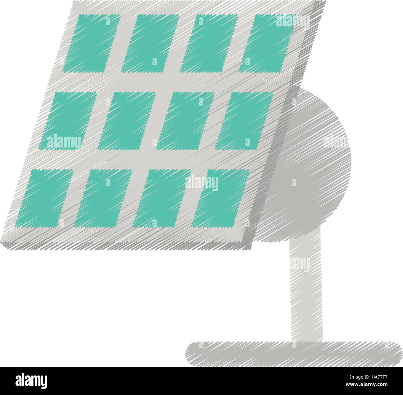 Sonnenkollektor erneuerbare Energie alternative Ed Stockbild