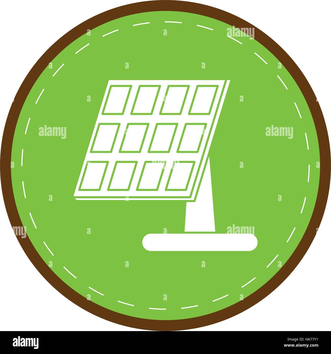 Sonnenkollektor erneuerbare Energie alternative grüner Kreis Stockbild