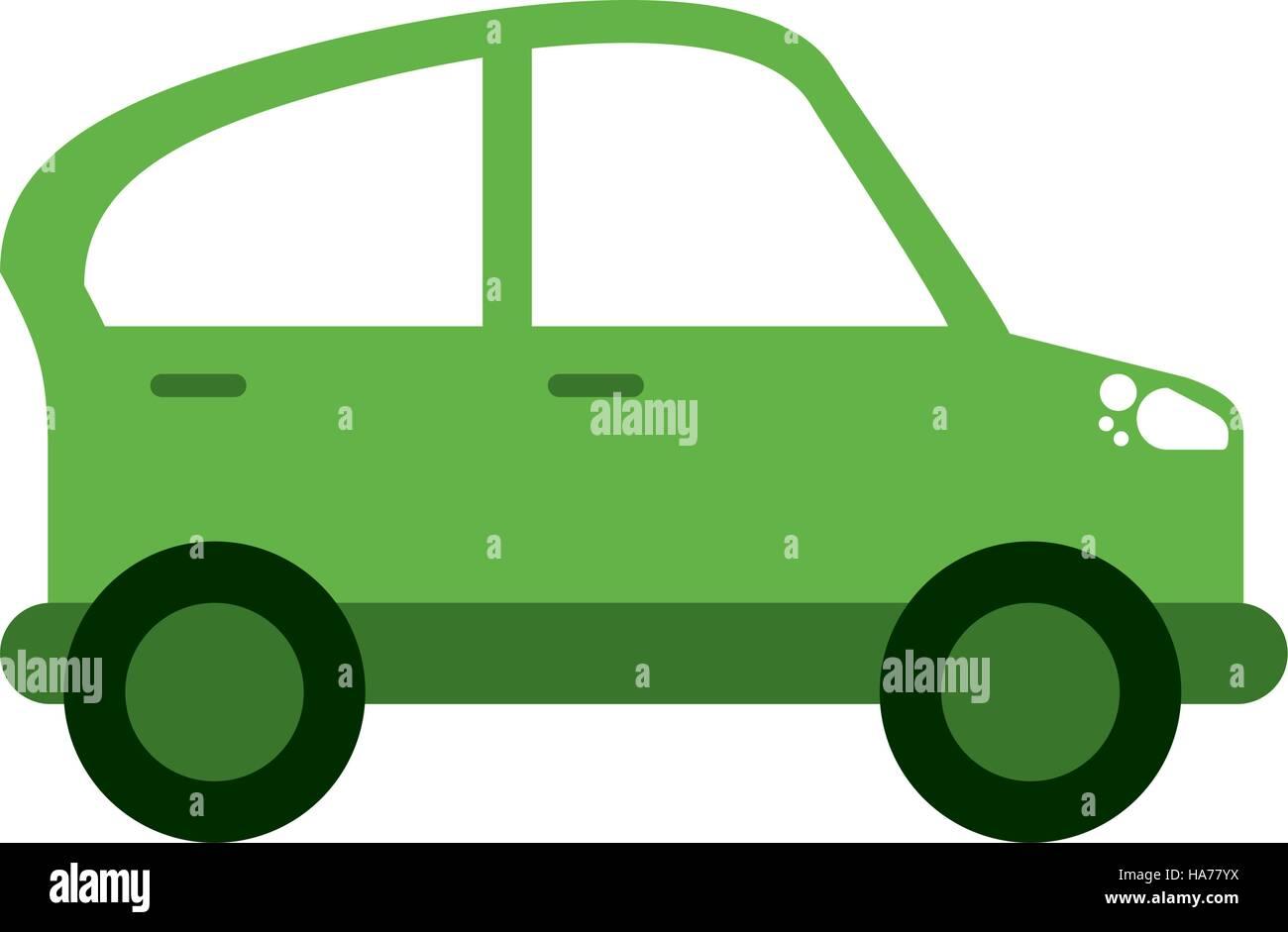 grünes Auto Transport Industrie Kontamination Symbol Stockbild