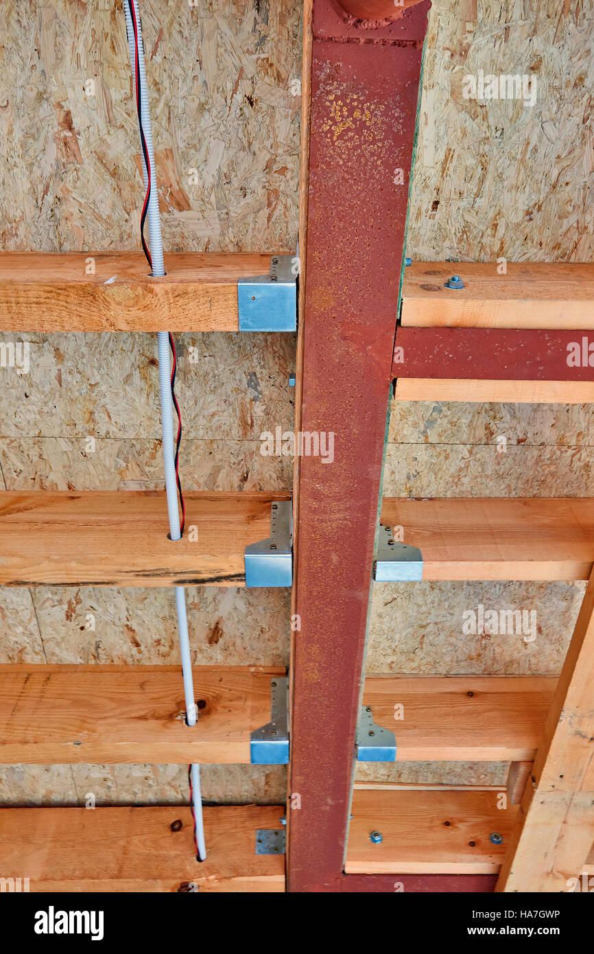 Construction Home Building Wooden Framing Stockfotos & Construction ...