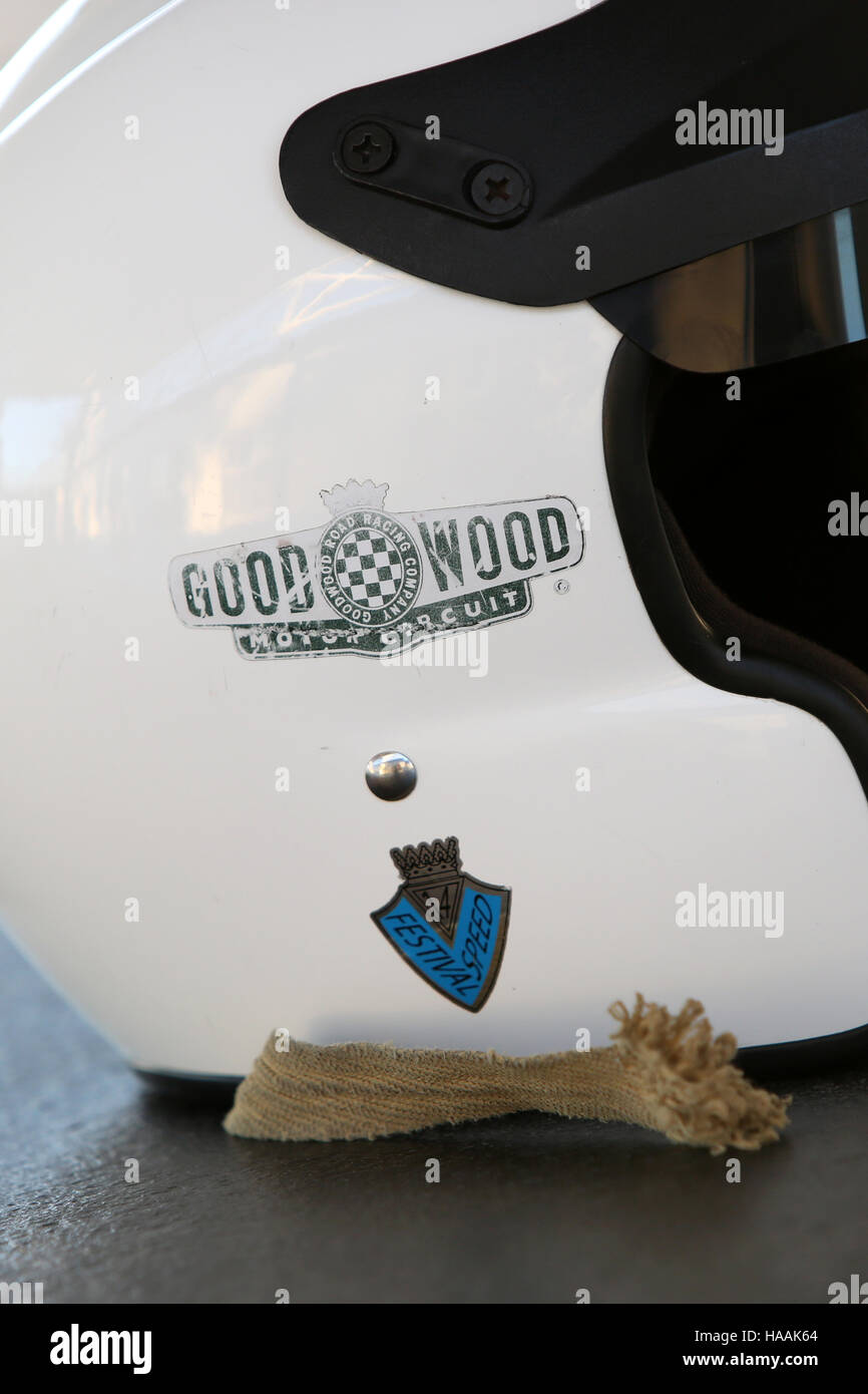 Rennstrecke Goodwood Pressetag, Goodwood, Chichester, West Sussex, UK. Stockfoto