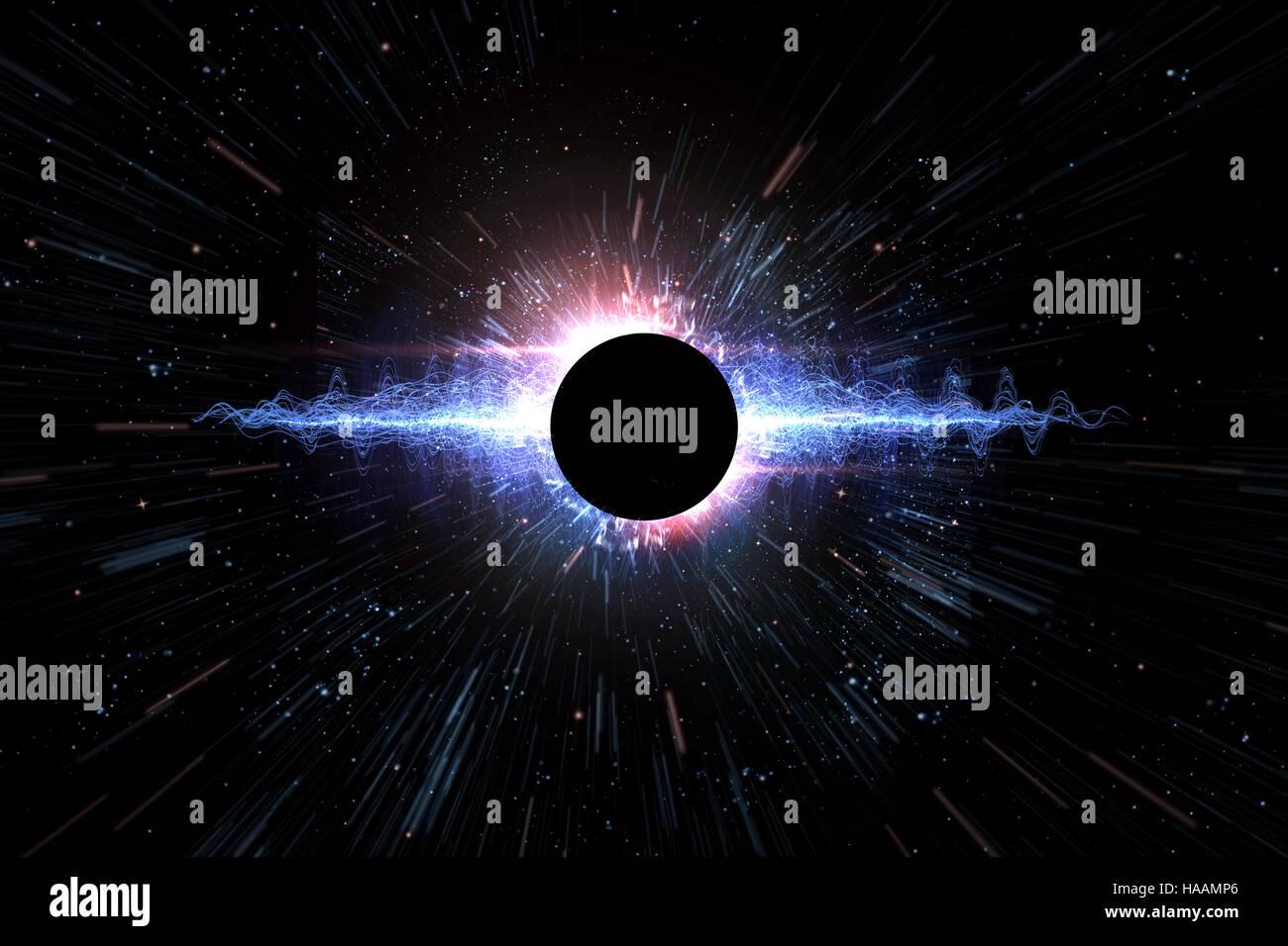 Universe Schwarzes Loch Explosion Weltraum Hintergrund 3D